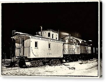 Cold Caboose Canvas Print by Chas Burnam