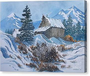 Cold  Canvas Print by Don Hand