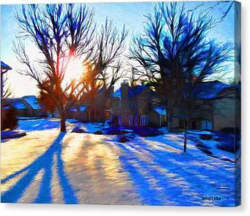 Cold Morning Sun Canvas Print by Jeff Kolker