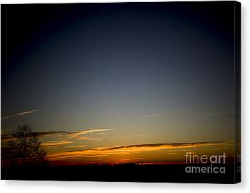 Cold Morning Sunrise Canvas Print by Michael Waters