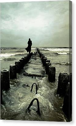 Cold Waves Canvas Print by Cambion Art