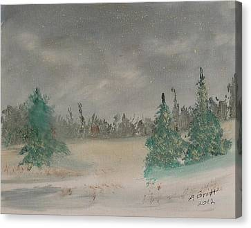 Cold Winter Canvas Print by Alfred Britt