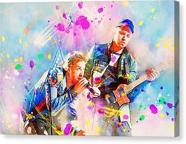 Coldplay Canvas Print by Rosalina Atanasova