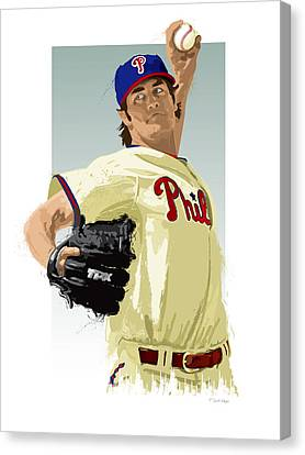 Cole Hamels Canvas Print by Scott Weigner