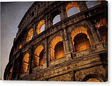 Colosseum Dawn Canvas Print by Joan Carroll