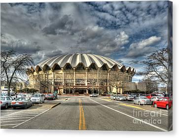 Coliseum Daylight Hdr Canvas Print by Dan Friend