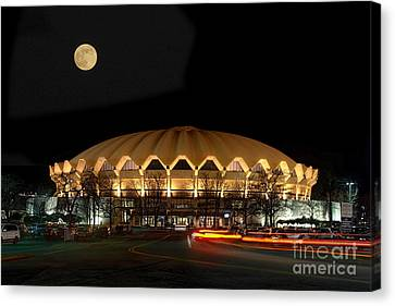 Coliseum Night With Full Moon Canvas Print by Dan Friend