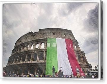 Coliseum Canvas Print by Stefano Senise