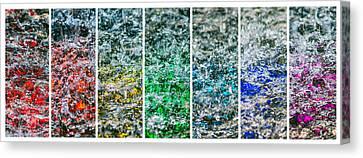 Collage Liquid Rainbow 1 - Featured 3 Canvas Print by Alexander Senin