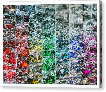 Collage Liquid Rainbow 2 - Featured 3 Canvas Print by Alexander Senin