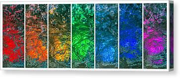 Collage Liquid Rainbow 4 - Featured 3 Canvas Print by Alexander Senin