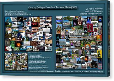 Collage Photography Services Canvas Print by Thomas Woolworth