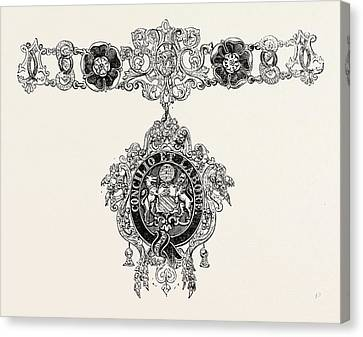 Collars And Jewel Of The Mayor Of Manchester Canvas Print by English School
