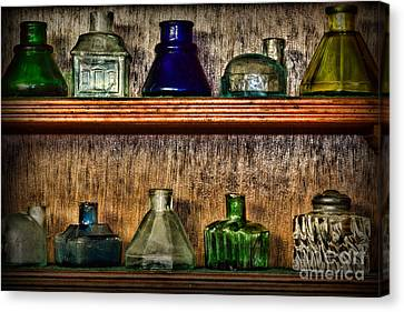 Collection - Ink Wells 1 Canvas Print by Paul Ward