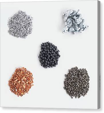 Collection Of Metals Canvas Print by Dorling Kindersley/uig