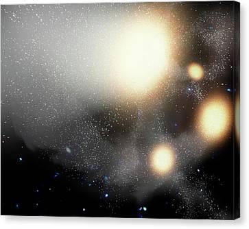 Colliding Galaxies Canvas Print by Nasa/jpl-caltech/t. Pyle (ssc)