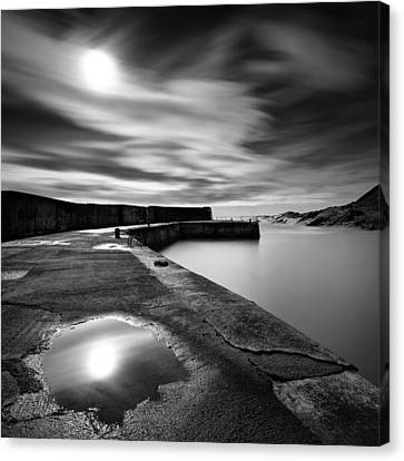Collieston Breakwater Canvas Print by Dave Bowman