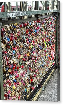 Cologne - Hohenzollern Bridge - Gypsy Locks - 02 Canvas Print by Gregory Dyer