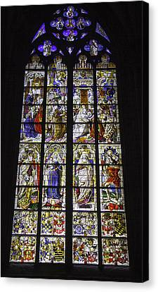 Cologne Cathedral Stained Glass Window Of The Three Holy Kings Canvas Print by Teresa Mucha