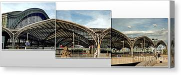 Cologne Central Train Station - Koln Hauptbahnhof - 02 Canvas Print by Gregory Dyer