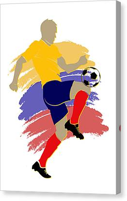 Colombia Soccer Player Canvas Print by Joe Hamilton