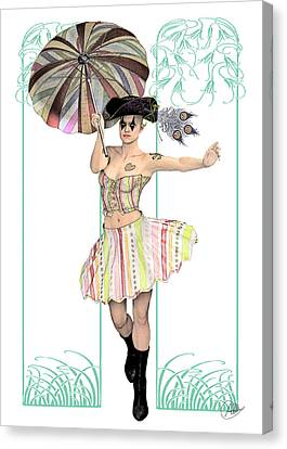 Columbine Pirate Girl Canvas Print by Quim Abella