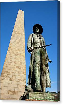 Colonel William Prescott Statue Canvas Print by Brian Jannsen