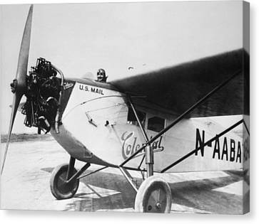 Colonial Air Transport Canvas Print by Henri Bersoux