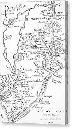 Colonial America The Dutch Colony Of New Netherland Canvas Print by John Vanderbank
