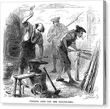 Colonial Blacksmith, 1776 Canvas Print by Granger