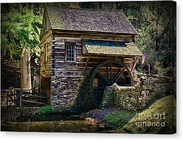 Colonial Grist Mill Canvas Print by Paul Ward