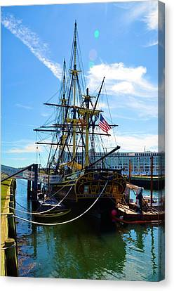 Colonial Ship Canvas Print by Richard Jenkins