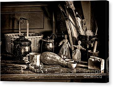 Colonial Table Set Canvas Print by Olivier Le Queinec