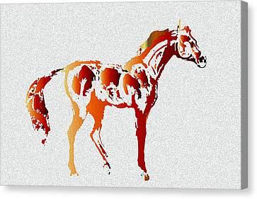 Color Code Canvas Print by Ellsbeth Page