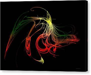Color Design With Lines Canvas Print by Mario Perez