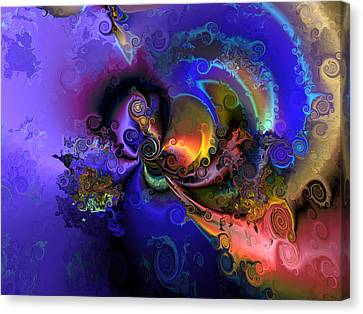 Color Gone Amok Canvas Print by Claude McCoy