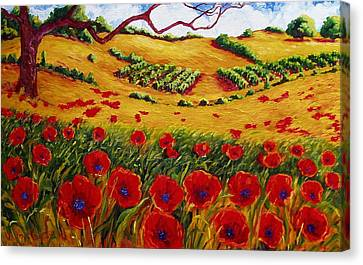 Color In The Vineyards Canvas Print by Lisa V Maus