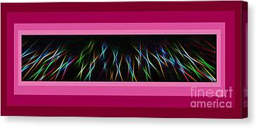 Color Lightrays Framed In Pink To Red Hues Canvas Print by ImagesAsArt Photos And Graphics