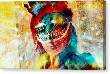 Color Mask Canvas Print by Linda Sannuti