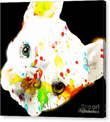 Color Me Frenchie Canvas Print by Barbara Chichester