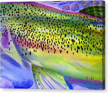 Color Me Trout Canvas Print by Anderson R Moore