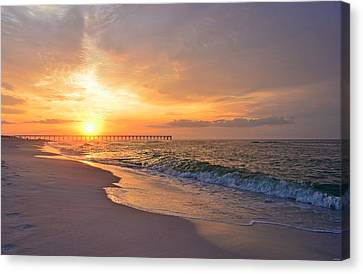 Color Palette Of God On The Beach Canvas Print by Jeff at JSJ Photography