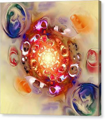 Color Wheel Canvas Print by Anastasiya Malakhova