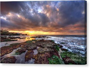 Color Within The Clouds Canvas Print by Eddie Yerkish