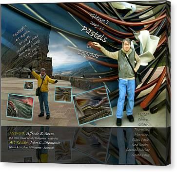 Colorado Art Book Cover Canvas Print by Glenn Bautista