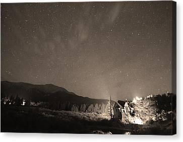 Colorado Chapel On The Rock Dreamy Night Sepia Sky Canvas Print by James BO  Insogna