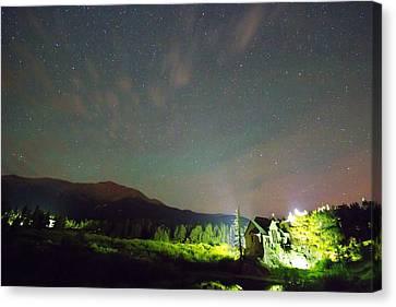 Colorado Chapel On The Rock Dreamy Night Sky Canvas Print by James BO  Insogna