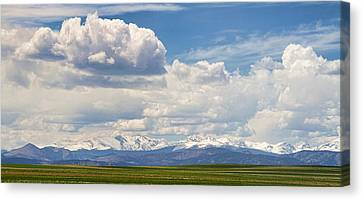 Colorado Front Range Boulder County Agriculture View Canvas Print by James BO  Insogna