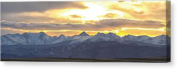 Colorado Front Range Panorama Gold Canvas Print by James BO  Insogna