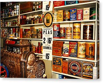 Colorado General Store Supplies Canvas Print by Janice Rae Pariza